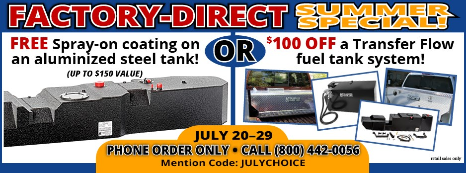 Factory Direct Summer Special