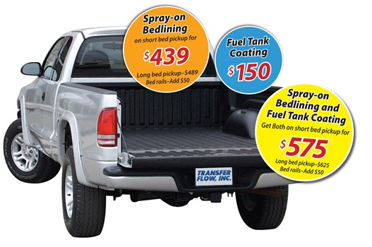 Spray on bed liner, deal information