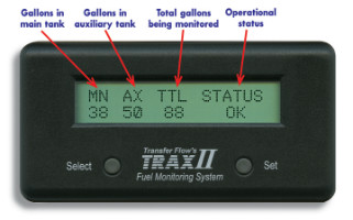 TRAX II LCD display