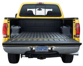 Spray on bed liner on yellow truck
