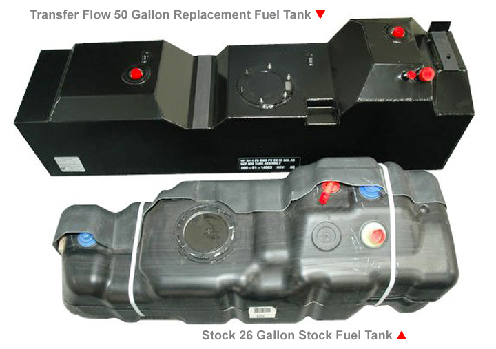Larger Replacement Fuel Tanks Transfer Flow Inc Aftermarket