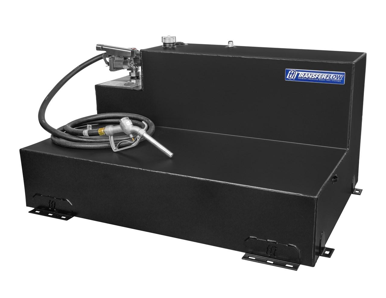 100 Gallon L Shaped Refueling Tank System Transfer Flow Inc Gas Gauge Fuel Pump Wire Harness
